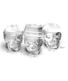 Look what I found on #zulily! Skull Ice Molds #zulilyfinds