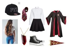 """""""AT HOGWARTS"""" by books-and-coffee-are-life on Polyvore featuring beauty, Stella Jean, Converse, Elope, Kenneth Jay Lane and topic"""