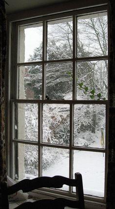 it's snowing outside...