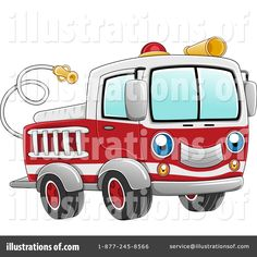 fire truck clipart | Royalty-Free (RF) Fire Truck Clipart Illustration by BNP Design Studio ...