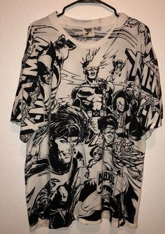 2a6097879462 vtg 90s X-Men Wolverine T-Shirt Marvel Comics soft thin single stitch gray  XS S