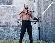 """HAFTHOR JULIUS BJORNSSON as The Mountain – Game Of Thrones GENUINE AUTOGRAPH 