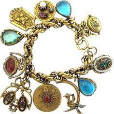 New this week - Vintage Signed ART Medallion Charm Bracelet