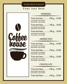 Free Hot Coffee Shop Menu Design and Layout Templates to Download