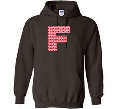 """Valentines Day Capital Letter """"F"""" Alphabet Initial Tshirt"""