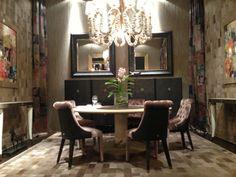 ROBERTO CAVALLI @ Salone Del Mobile / Milano. Roberto Cavalli, Oversized Mirror, Conference Room, Table, Furniture, Home Decor, Decoration Home, Room Decor, Tables