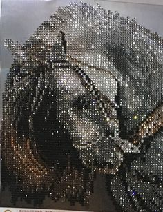 Diamond painting of a unicorn. I am hooked on this craft. Air Brush Painting, Dot Painting, Painting Frames, Funny Faces Pictures, African Art Paintings, 5d Diamond Painting, Diamond Art, Shoe Art, Bead Art