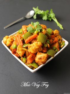 "Mix Veg Sabzi Recipe | Restaurant Style Mix Veg Recipe Must try this nutritious and mouthwatering ""Mix Veg"" recipe. Its quick and easy to make at home so you can try it for lunch or dinner. It usually goes well with any kind of bread, roti or naan. Hope you enjoy it! :) Click on Picture for Recipe Video --> #MixVeg #MixedVegetableRecipe #LunchRecipes"