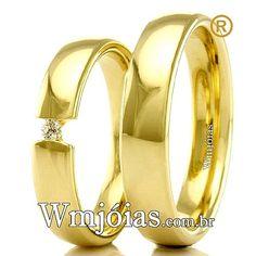 899af30eec1 Aliança de noivado e casamento Aliança em ouro amarelo 18k 750 Peso  7