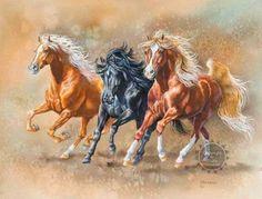 cuadros de caballos al oleo pintados