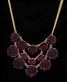$38.50 Triple Row Square Gem Bib Necklace | South Moon Under