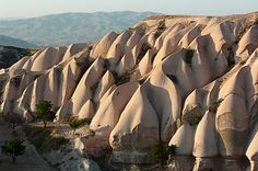 Ancient Region of Anatolia in Cappadocia, Turkey - The area has become a popular tourist area and a favorite spot for hot air ballooning.
