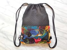 Backpack collection 2015  Tropical tropicool Parrots jungle Handmade made in france Montpellier Accessoires Sac à dos