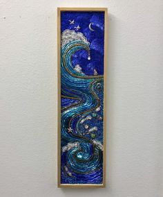 Mother Sea ll Beaded Mosaic Art - Ocean Wave Wall Hanging Mosaic Art, Mosaic Glass, Glass Art, Stained Glass Designs, Mosaic Designs, Beads Pictures, The Giver, Mosaic Projects, Art Lessons Elementary
