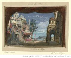 [La reine de Chypre : esquisse de décor de l'acte IV : la grande place de Nicosie / Philippe Chaperon] - 1876