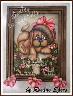 "Kit de pintura ""Cabideiro Cherry"" | Atelier Gummy & Tutta | Elo7 Arte Country, Pintura Country, Bear Paintings, Country Paintings, Tole Painting, Making Out, Animal Pictures, Stencils, Dog Cat"