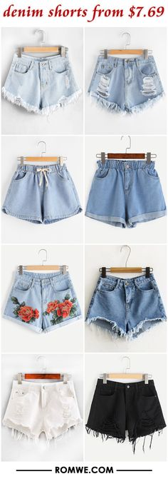 denim shorts from $7.69