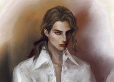 Anne Rice's Vampires — Lestat de Lioncourt from THE VAMPIRE CHRONICLES... Anne Rice, Dorian Gray, Vampires, 20 Feet From Stardom, Lestat And Louis, Fly Drawing, Character Inspiration, Character Design, Vampire Hunter D