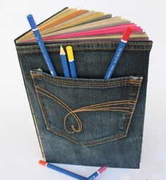 Must do! Reminds me of the awesome sketch book bag I made from jean overalls way back in college.