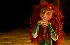 """I love...youuu,"" Merida. ""Probably because I'm handsome,"" Hiccup."