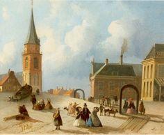 Joseph Bles (Den Haag 1825-1875) Op het Scheveningse strand - Kunsthandel Simonis en Buunk, Ede (Nederland).