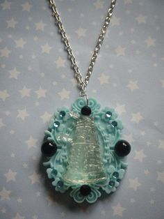 Doctor Who inspired clear Dalek on light blue cameo
