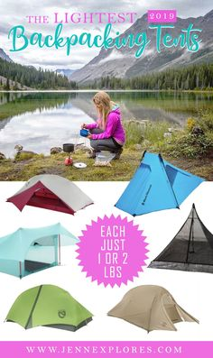 If you are planning to try backpacking in 2019, you will benefit greatly from a lightweight but well-constructed tent that will provide shelter for you and your belongings. Those couple of extra pounds really do make a big difference when traveling a far distance! Read on to discover my top recommendations for the best backpacking and hiking tents that are lightweight (in order of lightest to heaviest). #tent #backpacking #travel