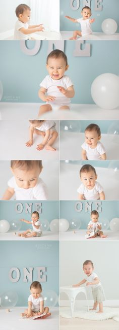 Jessica Nip simple first birthday session for boy