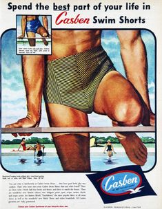 Advertising. Casben Swin Shorts. Somebody is out of the closet!