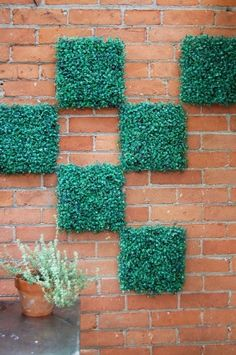 Grass Squares On Wall