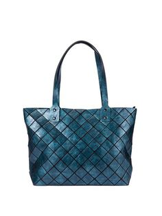 4efd221017b3 Medium Zipper Plaid PU Statement Tote
