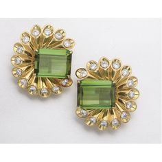 GOLD, TOURMALINE AND DIAMOND EARCLIPS, ALETTO BROS. | lot | Sotheby's
