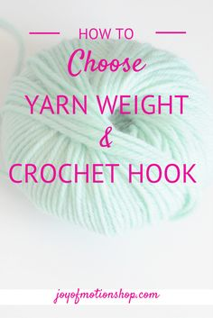 How to choose yarn weights & crochet hooks. It will give you a the freedom to design you own crochet. An increased knowledge & understanding of crochet.
