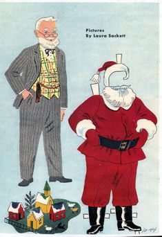SANTA | pictures by Laura Sackett 1944