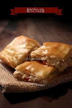 Greek Pita, Greek Pastries, Filo Pastry, Greek Dishes, Spanakopita, Greek Recipes, Food And Drink, Cooking, Ethnic Recipes