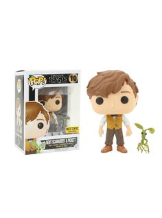 Funko Fantastic Beasts And Where To Find Them Pop! Newt Scamander & Picket Vinyl Figure Hot Topic Exclusive,