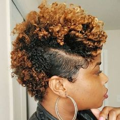 Short Caramel Blonde Natural Fauxhawk