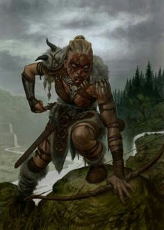 f Wood Elf Ranger barbarian wilderness