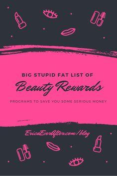 Stupid Big Fat  List of Beauty Rewards Program #smartshopping #beauty #makeup #cosmetics #lipstick #blush #foundation #coupons #discounts #sephora #ulta Tomato Face, Dark Lips, Skin Problems, Skin Care, Face Masks, Hair And Nails, Facial Masks, Skincare, Facials