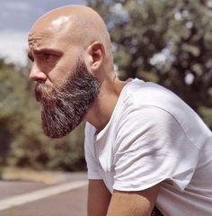 - Beard Tips Bald Men With Beards, Bald With Beard, Beard Game, Epic Beard, Beard Styles For Men, Hair And Beard Styles, Bald Beard Styles, Viking Beard Styles, Bald Men Style