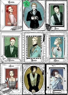 The last hours - Collection of Main characters. Art by Cassandra Jean