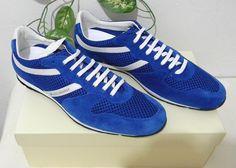 Boss Orange Hugo Boss Blue White Casual Suede Men Shoes Sneakers Size M 45 12 US #BossOrangeHugoBoss #FashionSneakers