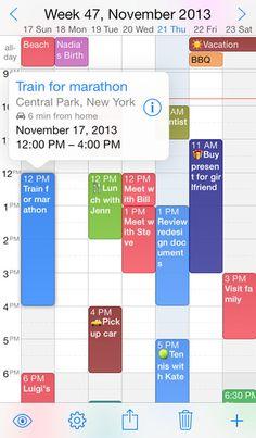 Week Calendar UtiliTap 달력 어플 주간 일정표기가 편리함