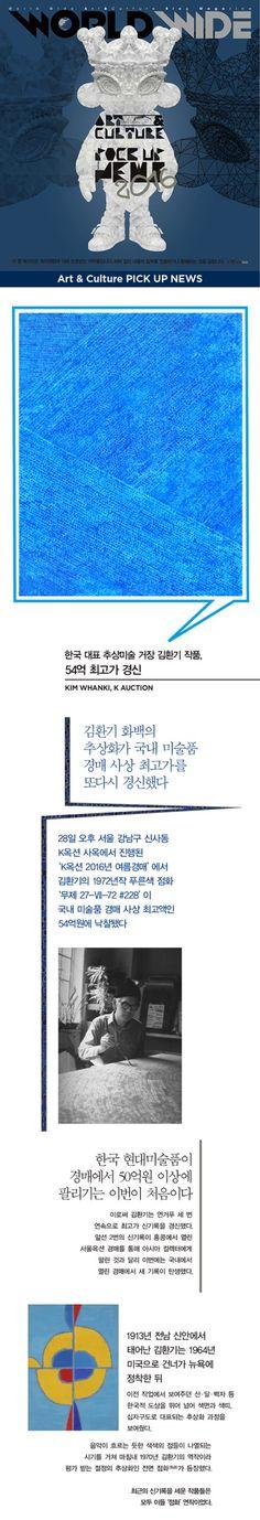 Blog Magazine ● WORLD WIDE: Art & Culture PICK UP NEWS∥한국 대표 추상미술 거장 김환기 작품, 54억 최고가 경신