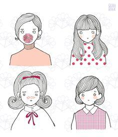 4 girls on Behance