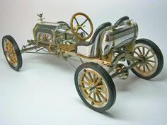 Beautifully built bare metal car from the brass era of model T's. This looks incredibly fragile.