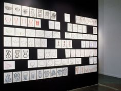 Mari Andrews. Drawing Installation, 2003 Ink on Paper  96 x 144 in