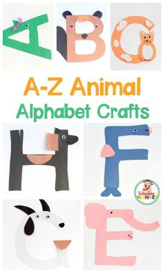 Transform letter cut-outs into adorable animal alphabet crafts! These preschool alphabet letter crafts are the perfect addition to letter of the week activities! Make a craft alphabet for toddlers and have a blast with these alphabet crafts for kids. Alphabet Letter Crafts, Abc Crafts, Preschool Activities, Kids Crafts, Craft Kids, Kindergarten Crafts, Animal Crafts, Alphabet For Toddlers, Letters For Kids