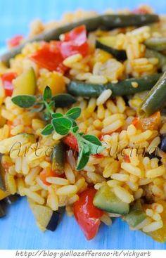Paella vegetariana ricetta con verdure e zafferano vickyart arte in cucina