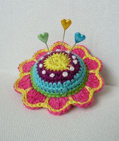 cute crochet pin cushion